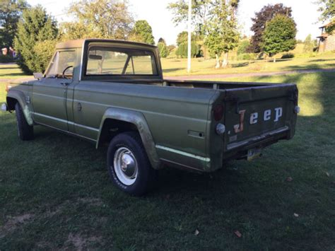 jeep gladiator 1970 1970 jeep j 2000 gladiator short bed pick up truck low