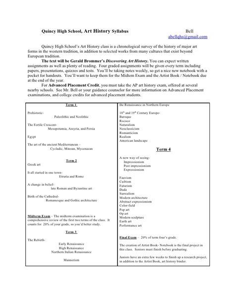 Drawing 1 Syllabus by History Syllabus