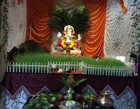 ganpati decoration ideas  home ganesh pooja decoration