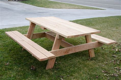 eagle boys make bench simple but large picnic table by fridgecritter