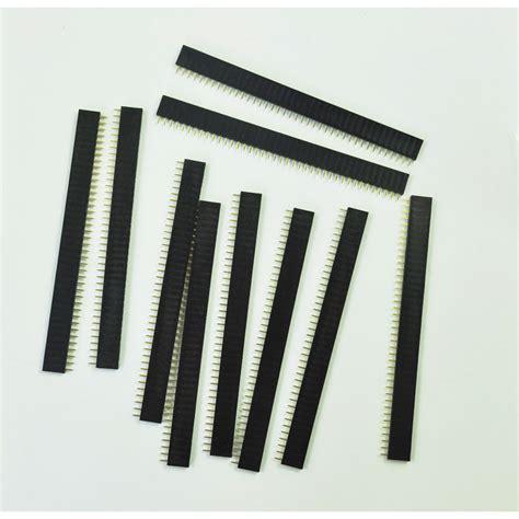Pin Header Single Row 1x40 2 54mm Black Hitam new 10 pcs 1x40 pin 2 54mm pitch single row pcb