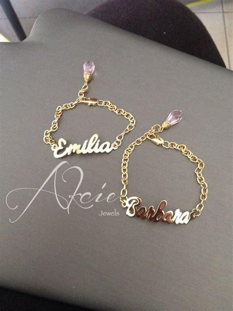 cadenas con nombre chapa de oro esclavas con nombre en oro laminado o rodio dijes