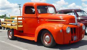 1942 Ford Truck 1942 Ford Orange Side Angle