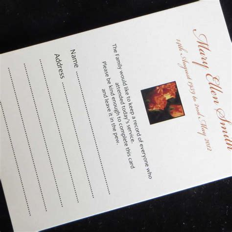 print on demand card games uk 10 funeral attendance cards fat03 ijc your print on demand