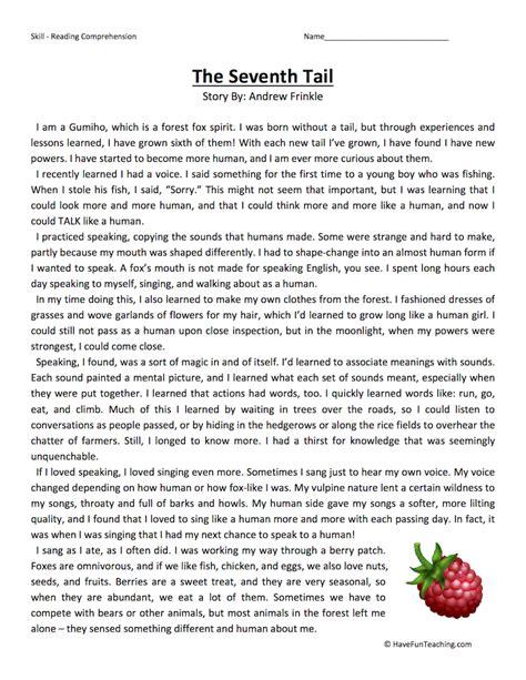 7 grade reading worksheets fourth grade reading comprehension worksheets page 5 of