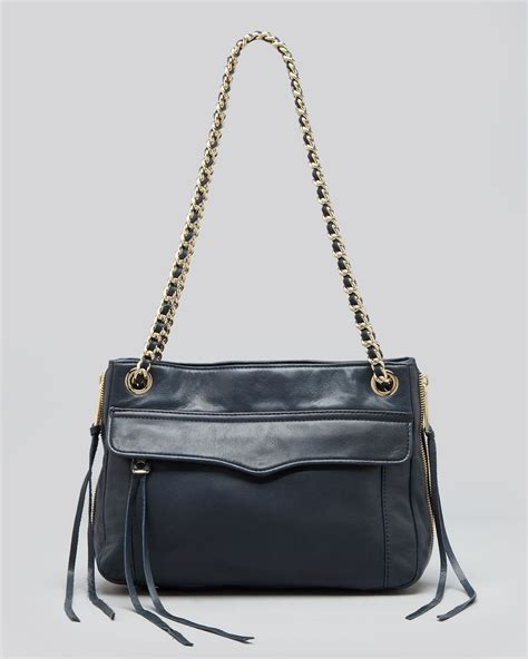 swing bag rebecca minkoff shoulder bag swing leather in blue