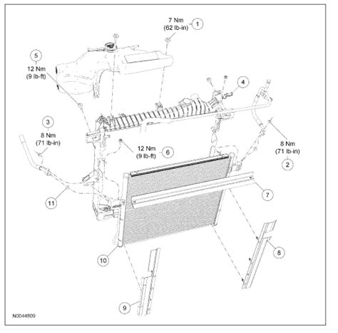 Radiator Ford Everest Xlt 2 5 L ford fusion radiator diagram ford free engine image for
