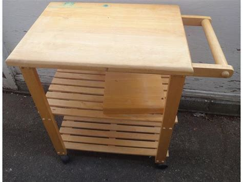 rolling butcher block table butcher block rolling table esquimalt view royal