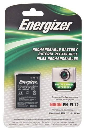 Nikon En El12 Rechargeable Li Ion Battery For Coolpix Terbaru energizer rechargeable li ion replacement battery for
