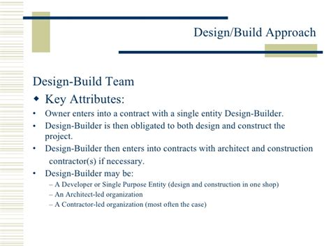 design and build contract agreement miros design build approach 2 26 10