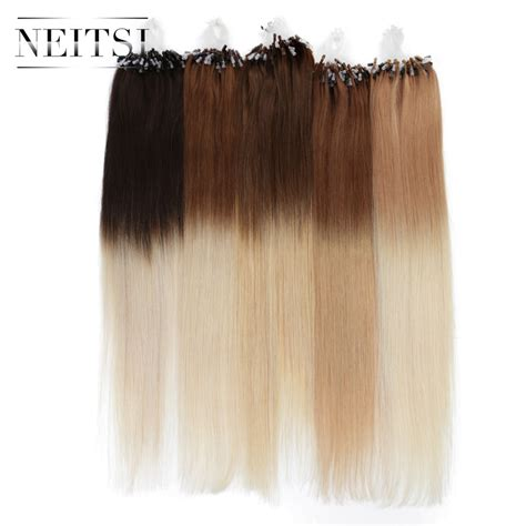 micro ring hair extensions aol neitsi ombre micro loop easy rings beads hair extensions
