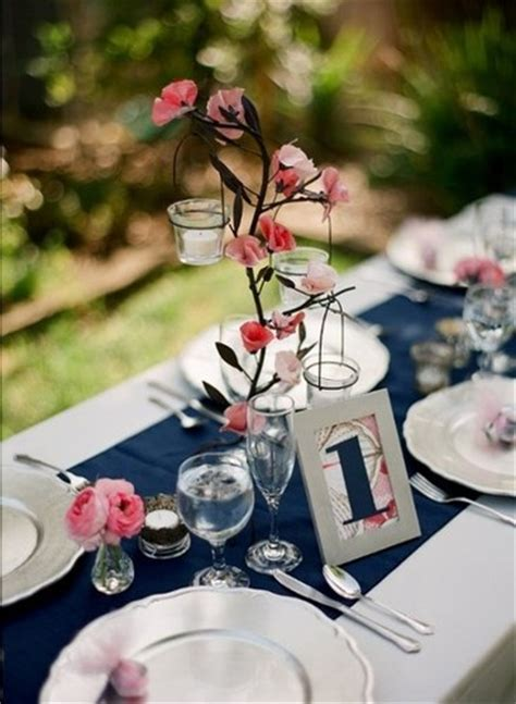navy and coral wedding centerpieces your wedding in colors navy blue and coral arabia weddings