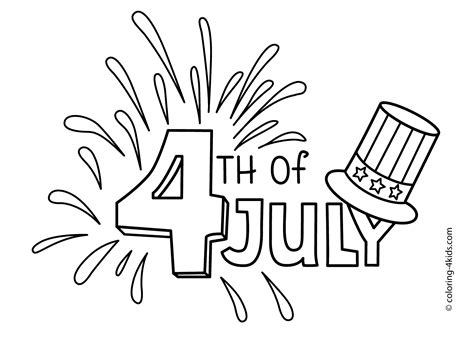 Fourth Of July Drawings july 4 coloring pages usa independence day coloring pages