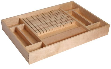 Knife Block Drawer Insert by Custom Dovetail Drawer Products Eagle Woodworking