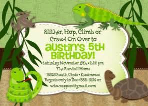 reptile themed birthday invitation printable design k050