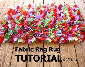 Area Throw Rugs Fabric Rag Rug Tutorial And Video Link