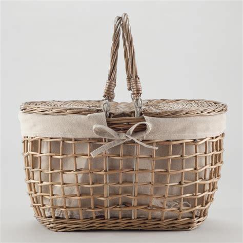 To Market Recap Picnic Basket by Gray Willow Picnic Basket World Market