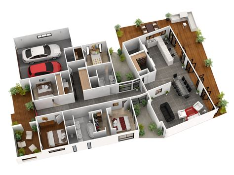2nd Floor House Plan by 3d Gallery Budde Design Brisbane Perth Melbourne