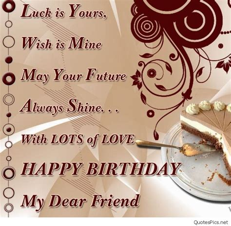 Happy Birthday Wishes To Best Friend Best Happy Birthday Card Wishes Friend Friends Sayings