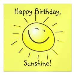 happy birthday sunshine cards zazzle