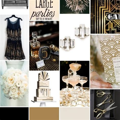 tone and theme of the great gatsby great gatsby mood board great gatsby theme for h