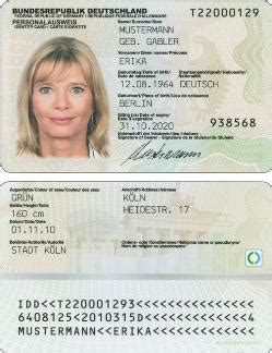 german id card template bsi electronic id card
