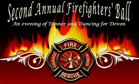 save the date firefighters ball benefiting devon colbert