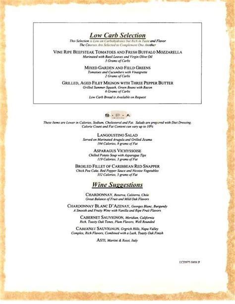 dinner menu for 4 carnival cruise sle dinner menu 4 carnival cruise