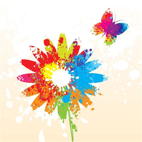 colored beautiful flowers design graphics vector flower colorful summer flower vector graph