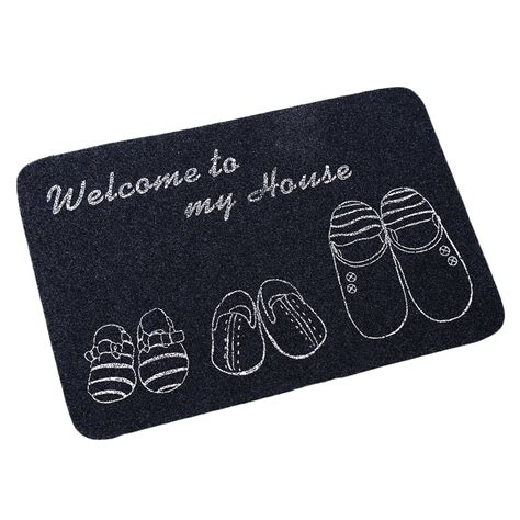 Thin Bath Mat Ultra Thin Non Slip Bath Home Mats Entrance Door Doormat Home Foyer Floor Mud Oe Ebay