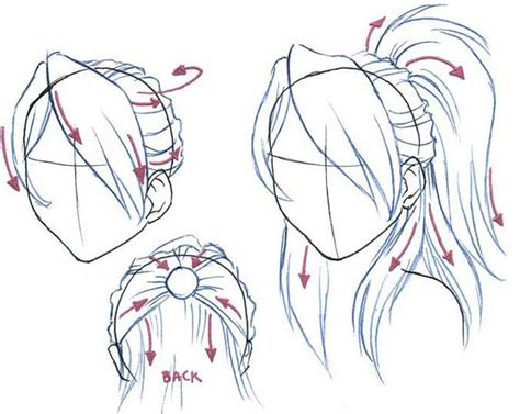 anime hairstyles female tutorial drawing girl hair styles drawing tutorials types of