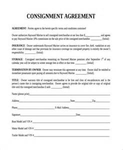 consignor agreement template consignment agreement form sles 9 free documents in pdf