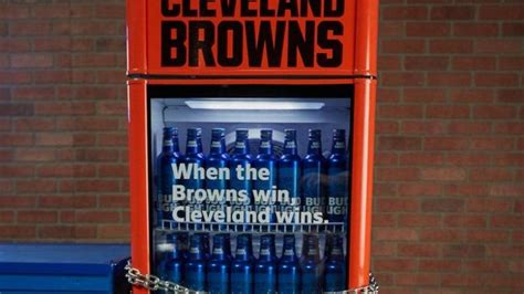bud light snap to unlock bud light announces the cleveland browns victory fridge