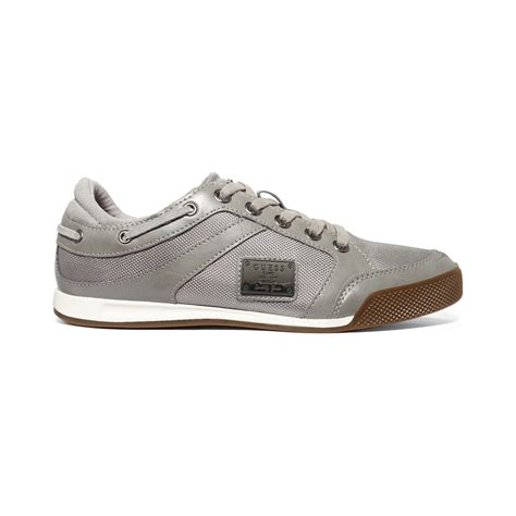guess sneakers guess leon4 sneakers in gray for grey lyst