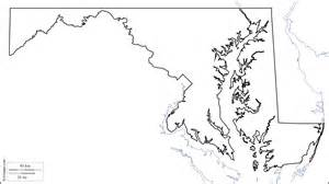 Maryland State Outline Map by Geography Maryland Outline Maps