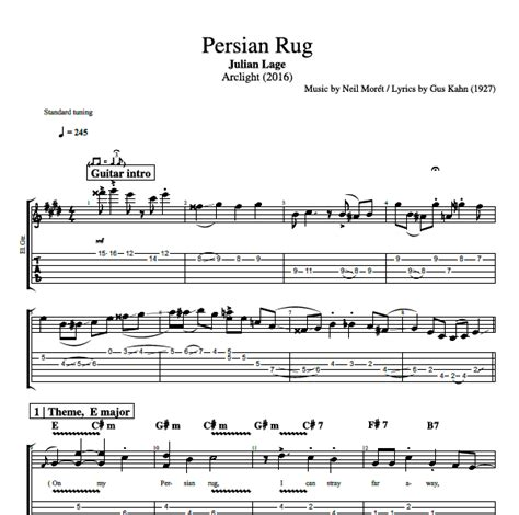 rugs from me to you lyrics quot rug quot by julian lage guitar bass tabs sheet chords play like the