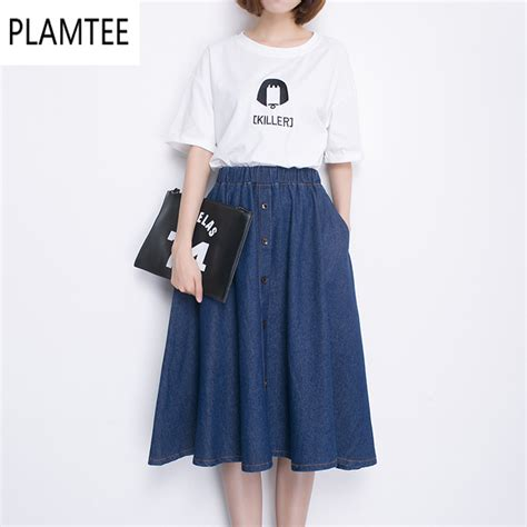 fashion denim skirt 2017 summer new plus size s xxxl