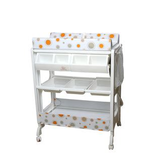 Baby Change And Bath Table Baby Change And Bath Table With Safety Clipper Comfort Pad Lockable Wheels