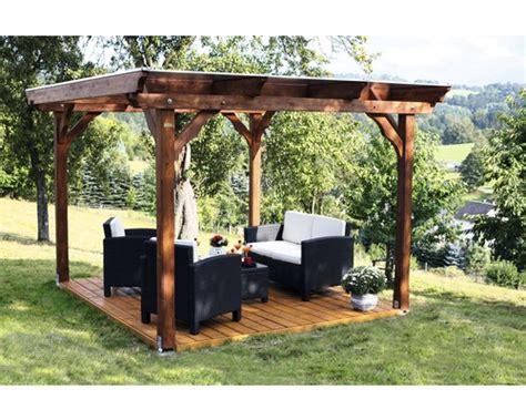 holz pavillon 4x4 günstig pavillon marseille 350 x 327 cm natur jetzt kaufen bei