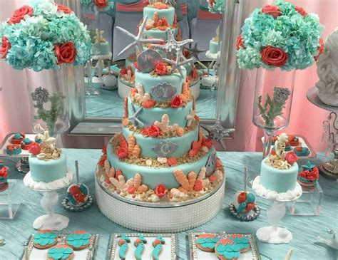 quinceanera themes ideas coral under the sea quincea 241 era quot coral ocean sweet fifteen
