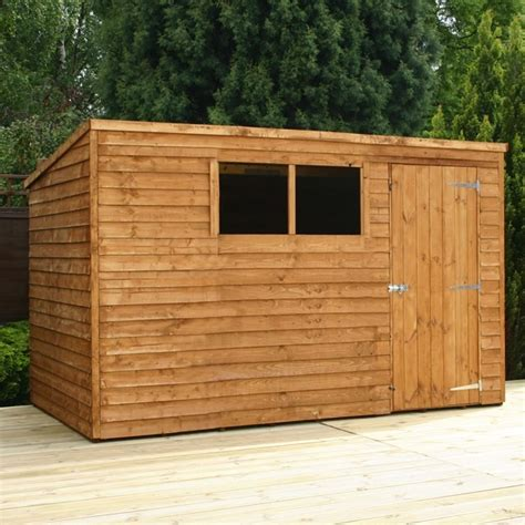 waltons overlap pent wooden shed