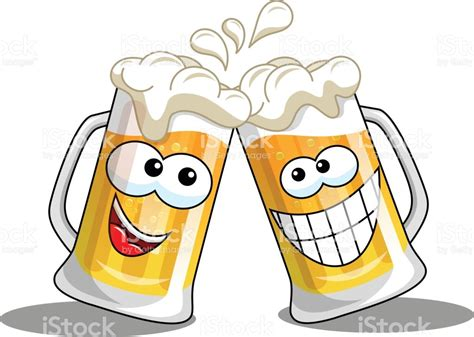 cartoon beer cheers cartoon beer mugs cheers isolated stock vector art more