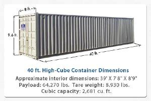 container 40 piedi misure interne c i s co council of intermodal shipping consultants