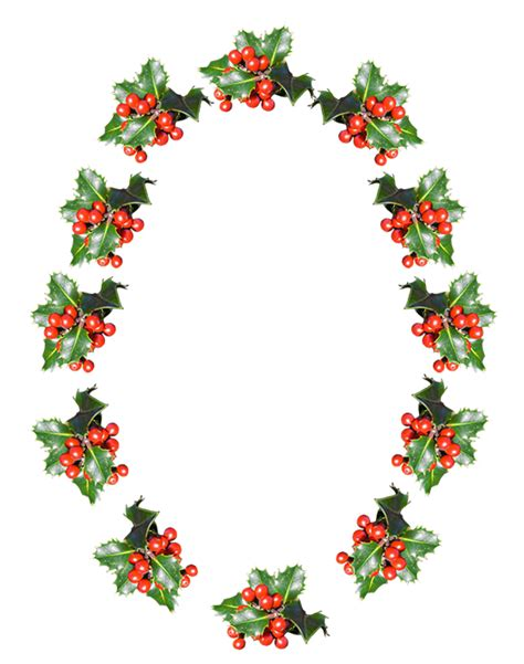 oval christmas frames clip borders