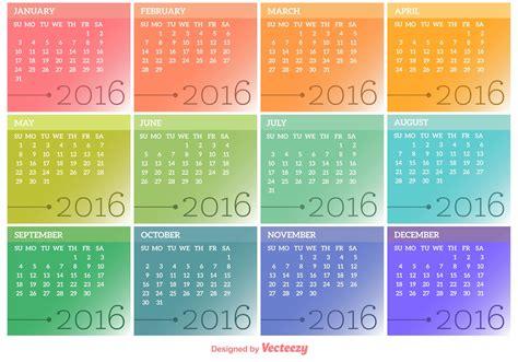 Imagen Calendario Original Vector Calendar 2016 Free Vector Stock