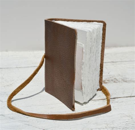 crafted leather bound handmade pocket journal