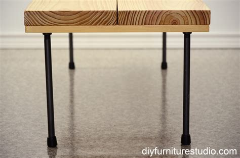 diy plumbing pipe table rustic modern coffee table or bench with plumbing pipe