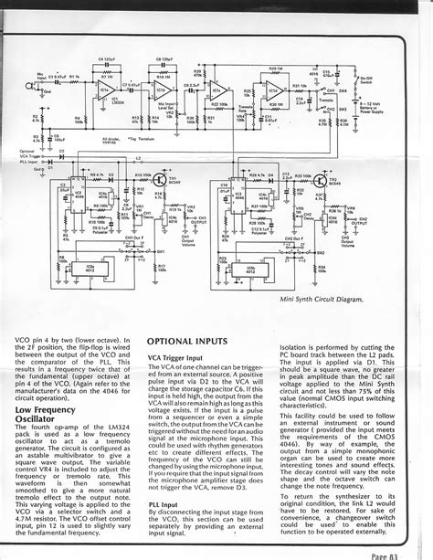 index of diy schematics guitar synth and misc signal shapers