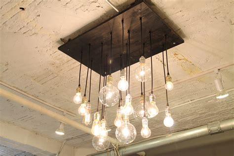 Etsy Chandelier Industrial Chandelier With Vintage Bulbs Now In By Urbanchandy