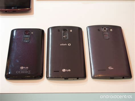 Hp Lg G2 G3 G4 In Pictures Three Generations Of Lg Flagships Android Central